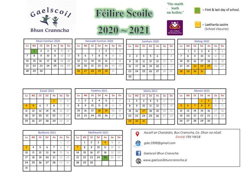 Féilire Scoile - 2020 ~ 2021.jpg